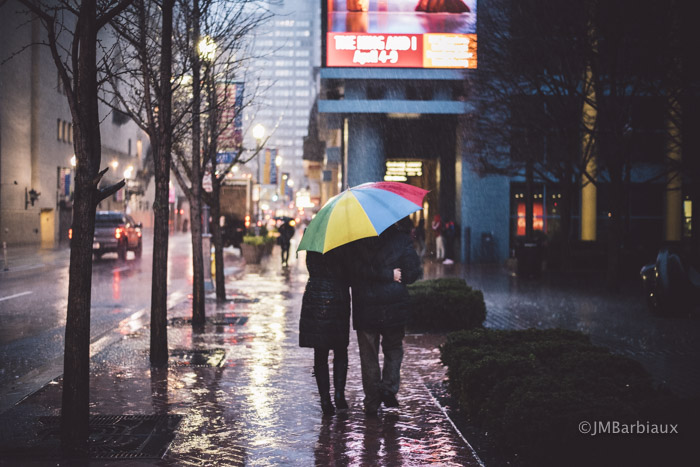 umbrella, street photography, pittsburgh, cultural district, rainy day