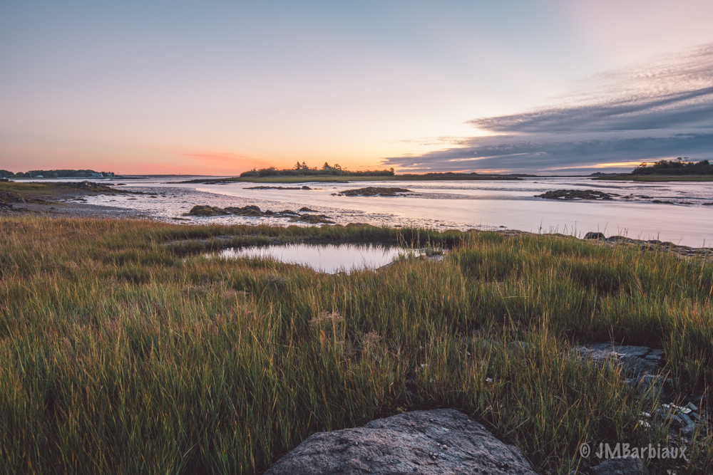 Maine, kennebunkport, sunrise, focus stack, sea, ocean, travel, nikon d850