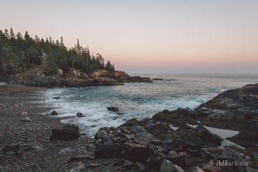 beach, acadia, national park, long exposure, sunset, ocean