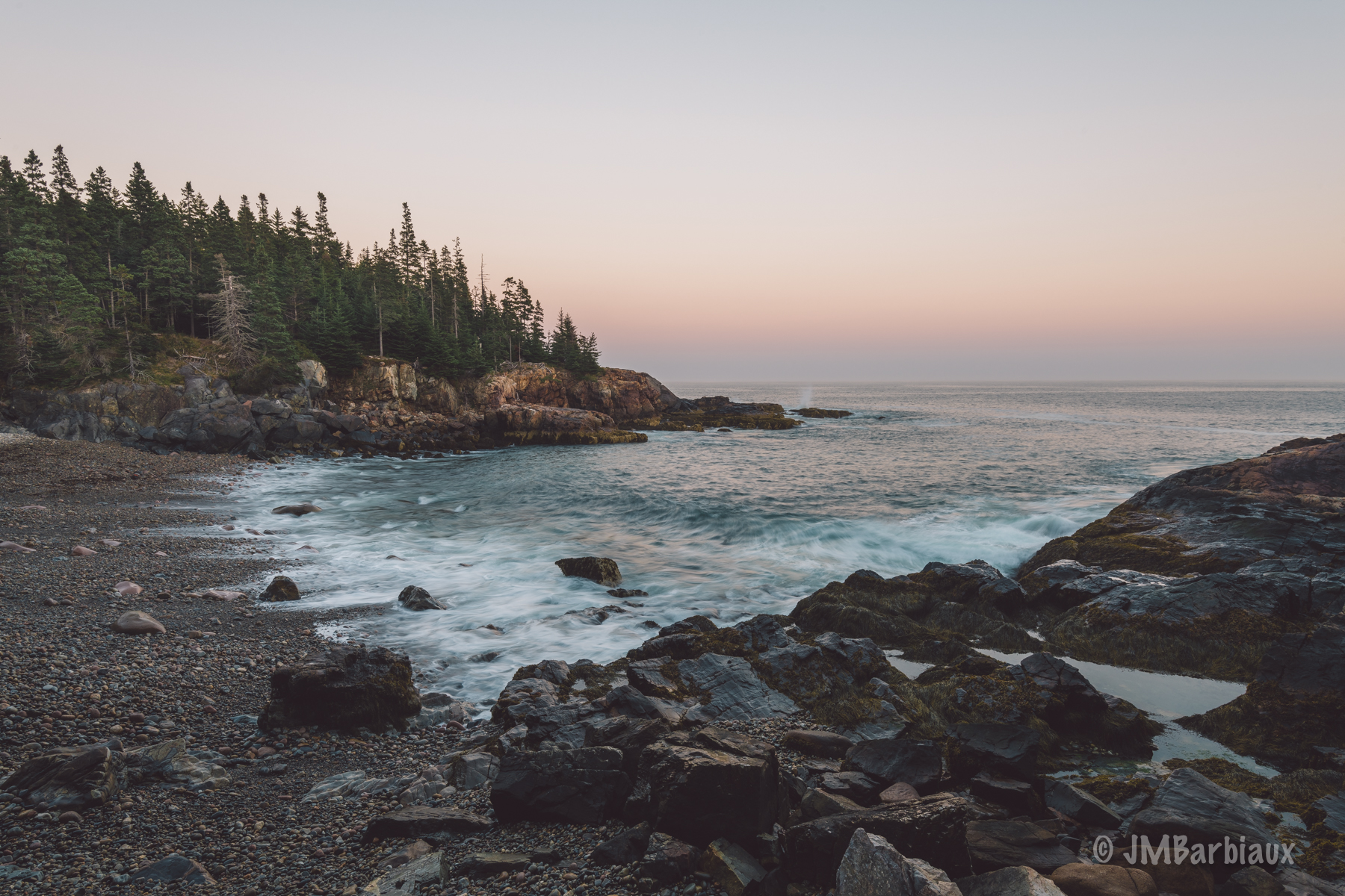 beach, acadia, national park, long exposure, sunset, ocean