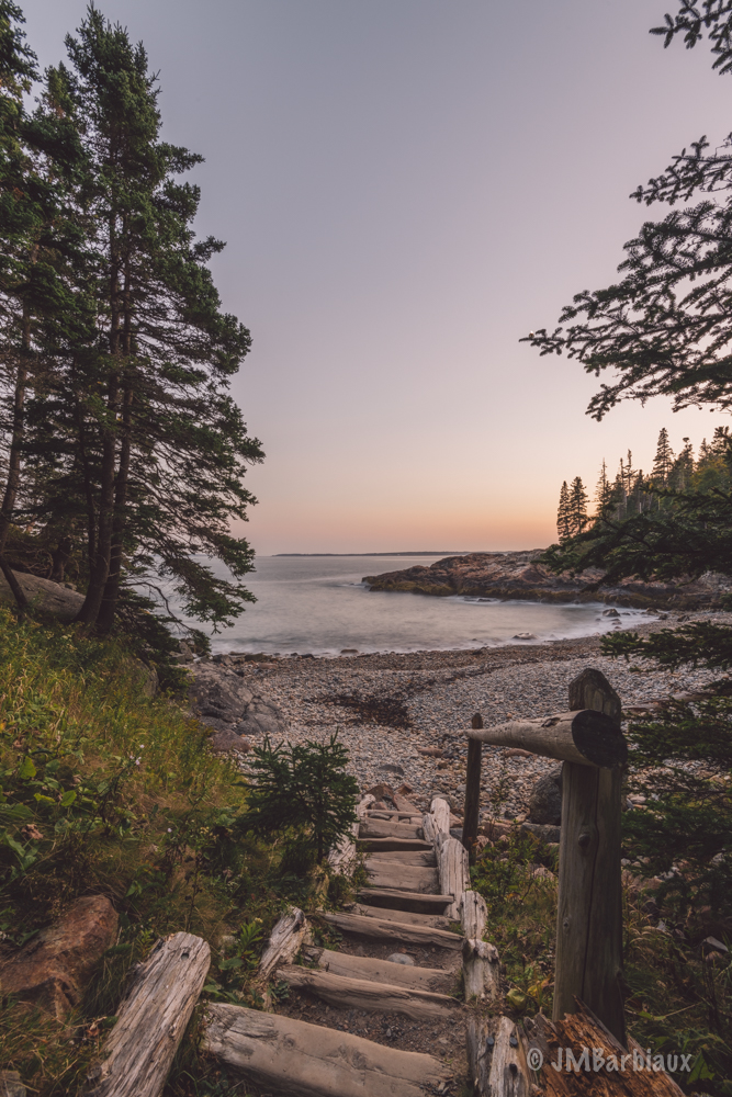 Acadia National Park, beach, travel, hike, nikon d850, sunset