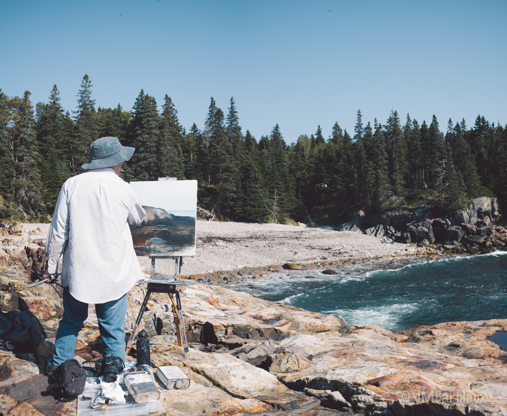 Acadia national park, art, painting, leica, maine