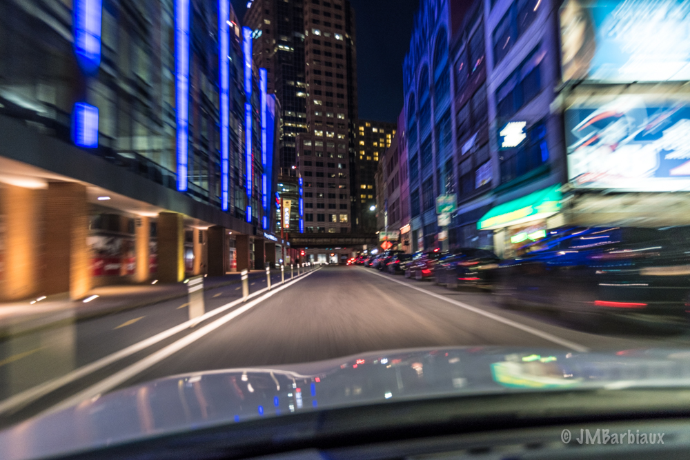 Pittsburgh, street photography, long exposure, night, light trails,