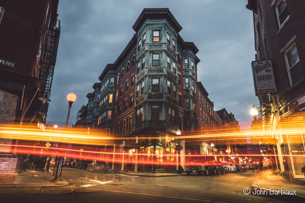 North Side, Boston, Street Photography, Urban Landscape, long exposure, light trails