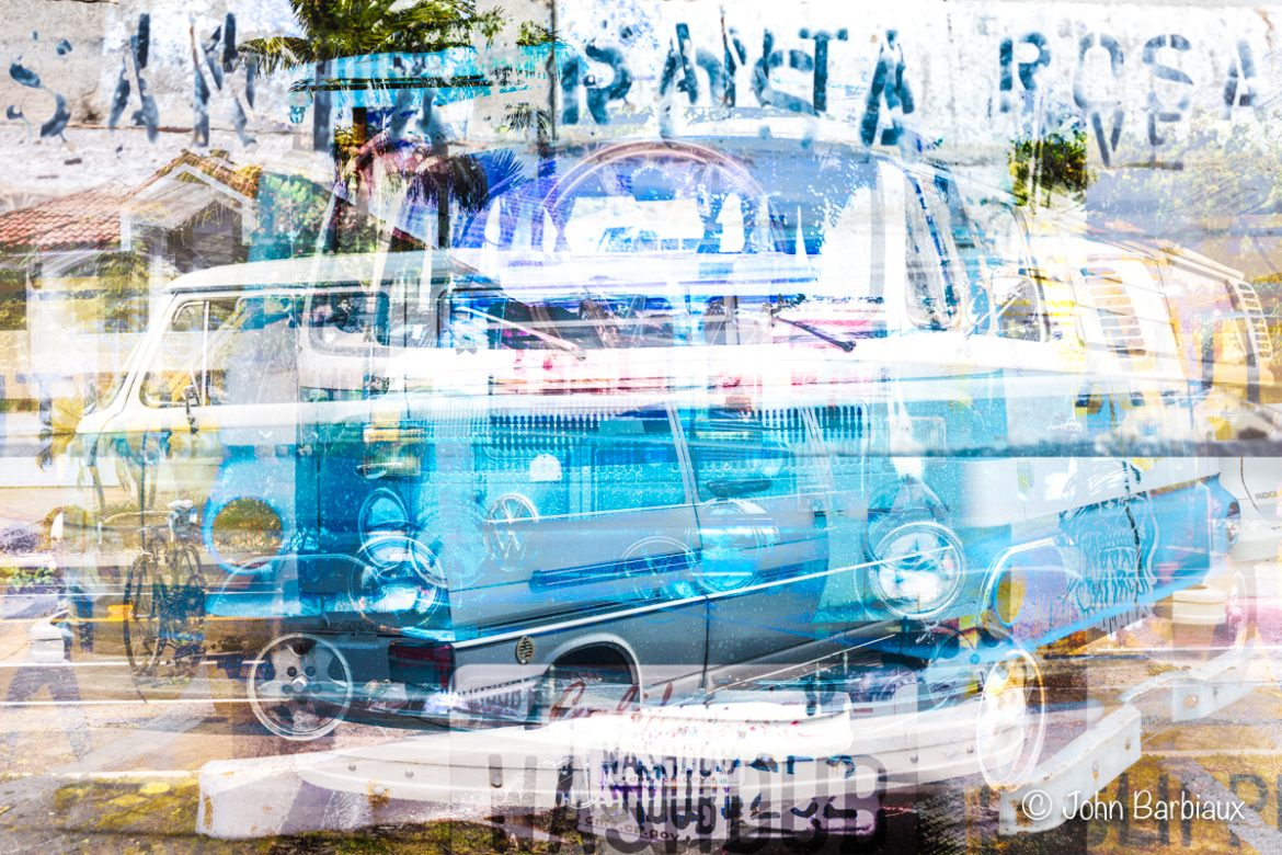 Volkswagen, campervan, Vanagon, vanille,fine art, abstract art, modern art, fine art photography, fractal cityscape