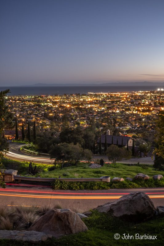 light trails, Santa Barbara, Leica, leica m10, leica m10-p, cityscape, urban landscape, California, west coast, sunset