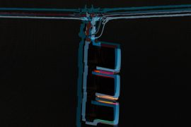 Abstract art, composite, red light, signal light, abstract photography, contemporary photography, composite
