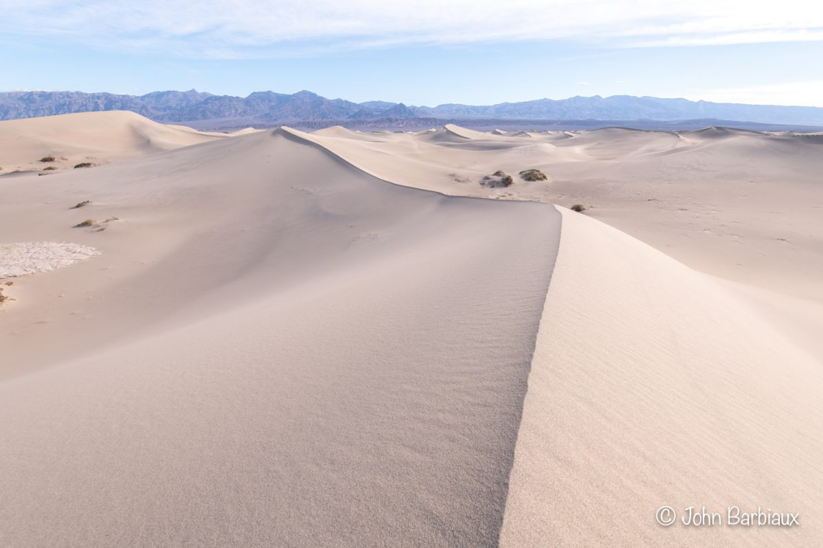 Sand dunes, mesquite flat, Death Valley, national park, desert