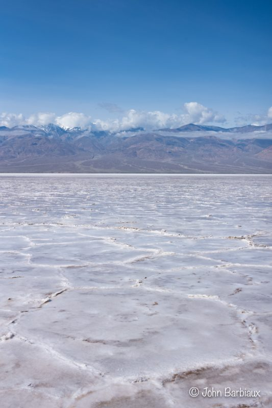 Badwater Basin, hiking, off the trail, salt formation, national park, Death Valley