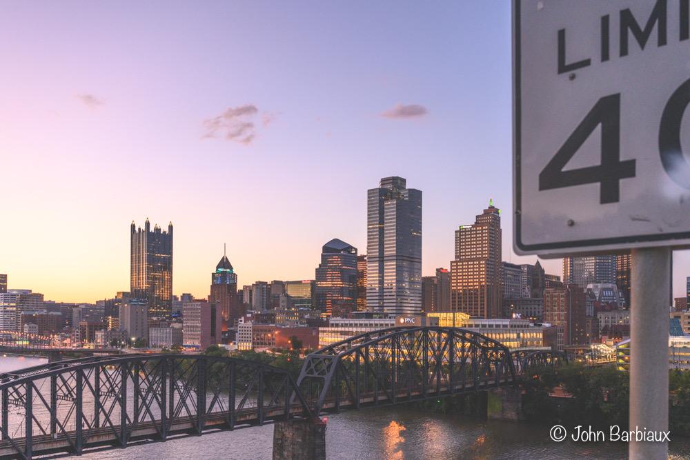 Nikon Z7, Nikon 24-70 f2.8 s, Pittsburgh, cityscape, sunset