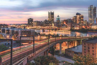 Pittsburgh, Nikon Z7, cityscape photography, fine art photography, light trails, long exposure, Nikon 24-70mm f/2.8 S, Nikon
