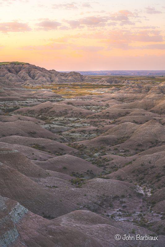 badlands, national park, sunrise, desert, Nikon z7, landscape photography